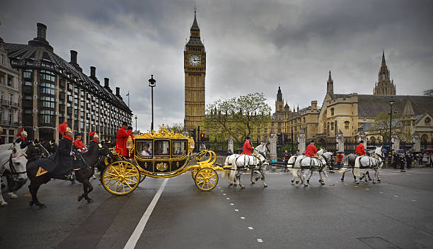 london-prunk - pferdekutsche stock-fotos und bilder