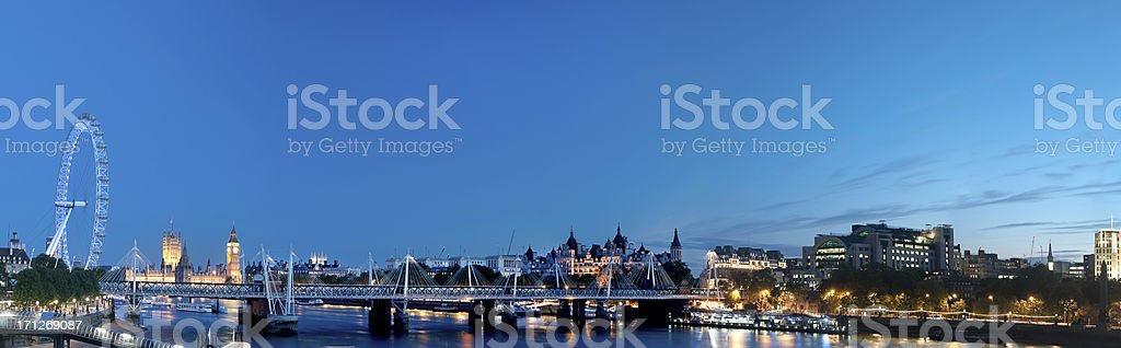 London Panorama at Night XXXLarge royalty-free stock photo
