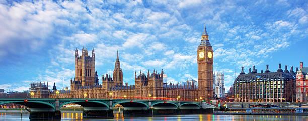 London panorama - Big ben, UK. stock photo