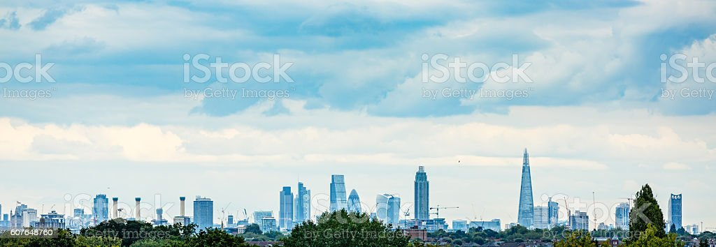 London panorama with famous skyscrapers stock photo