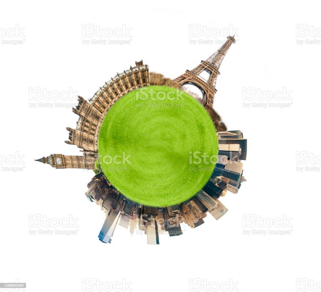 London Paris NYC stock photo
