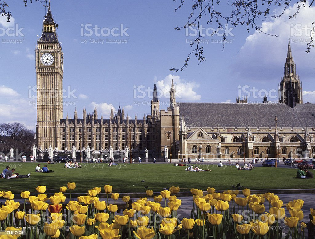 London: Parliament Square royalty-free stock photo