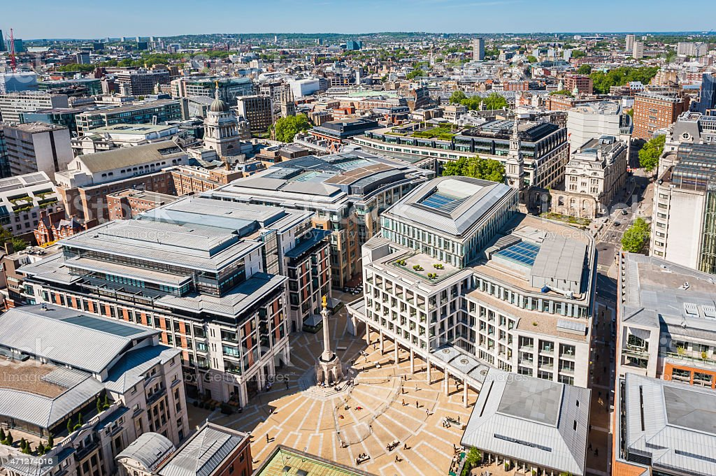 London Paternoster Square London Stock Exchange heart of The City stock photo