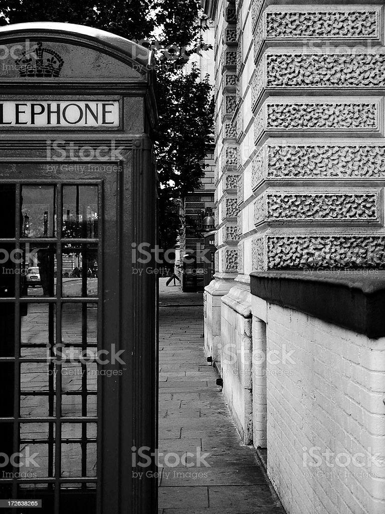 B/W London Phonebooth royalty-free stock photo