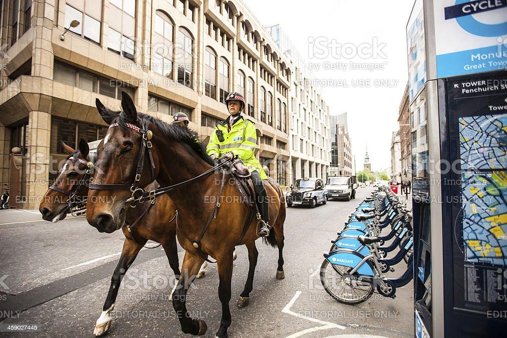 London Police riding horses royalty-free stock photo