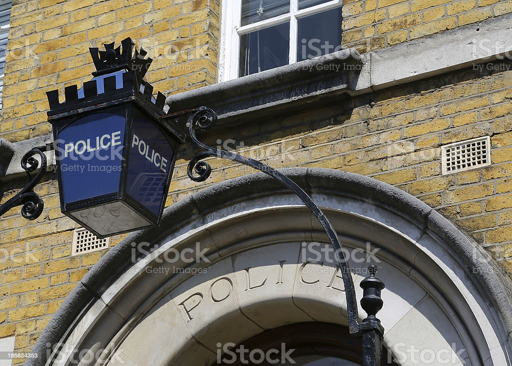 London - Police Sign stock photo