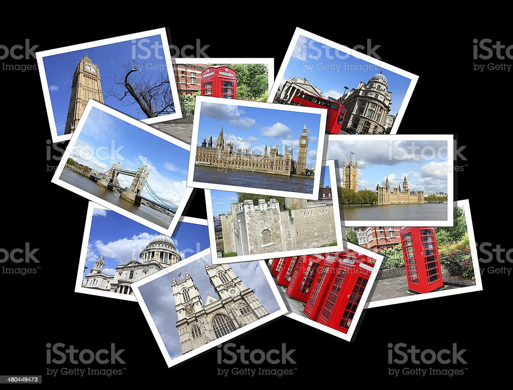 London postcards royalty-free stock photo