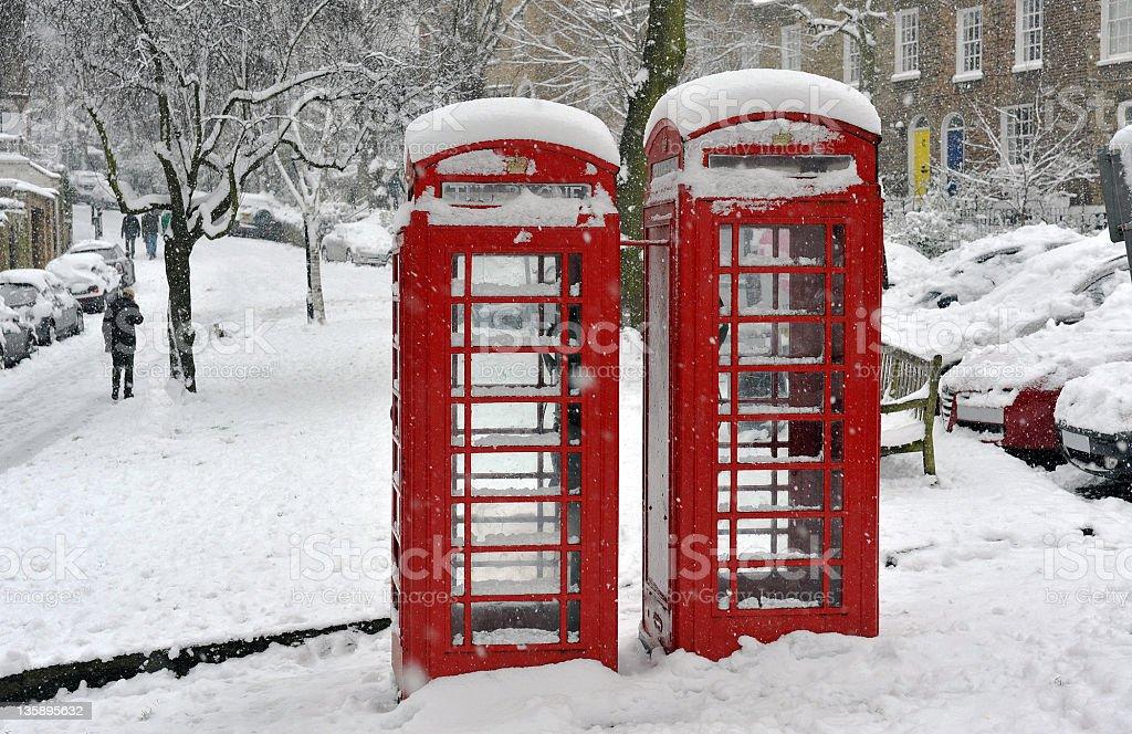 London public telephones royalty-free stock photo