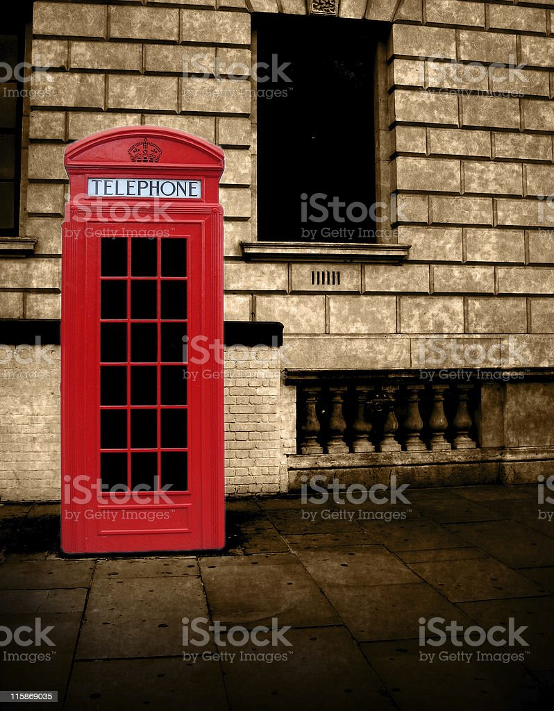 London Red Phone Booth royalty-free stock photo
