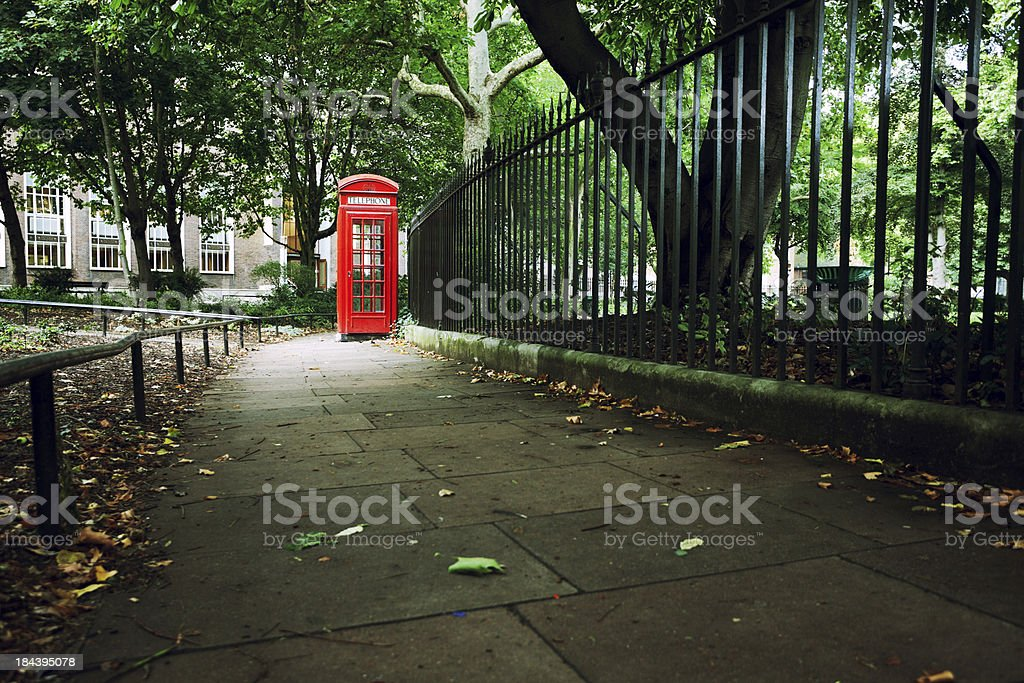 London Red Phone Booths, Black and White royalty-free stock photo