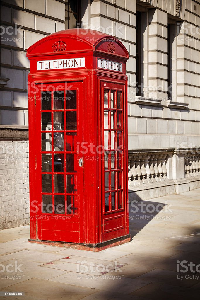 London Red Telephone Booth royalty-free stock photo