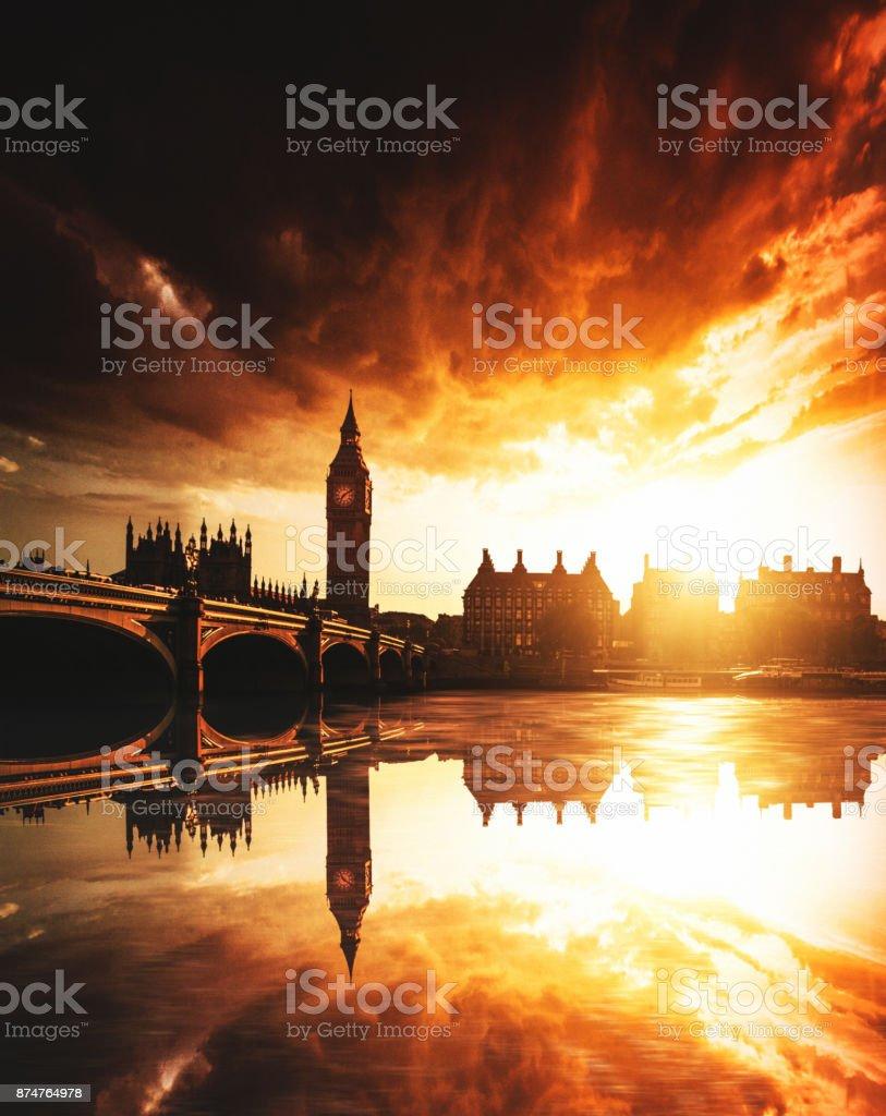 London reflections stock photo