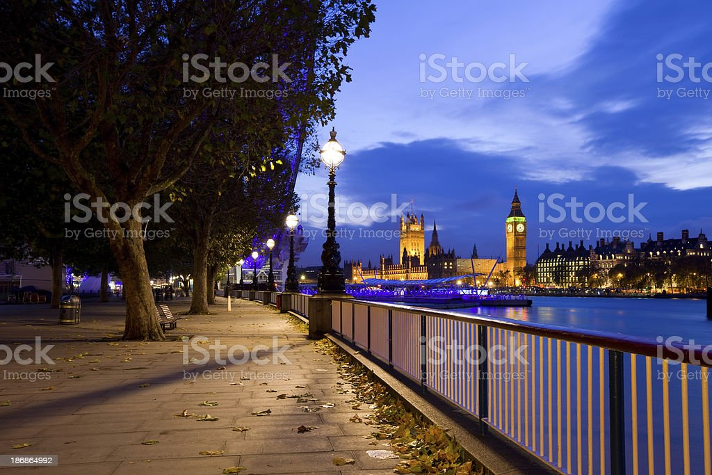 London, River Thames royalty-free stock photo