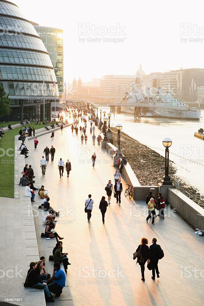 London Riverbank stock photo