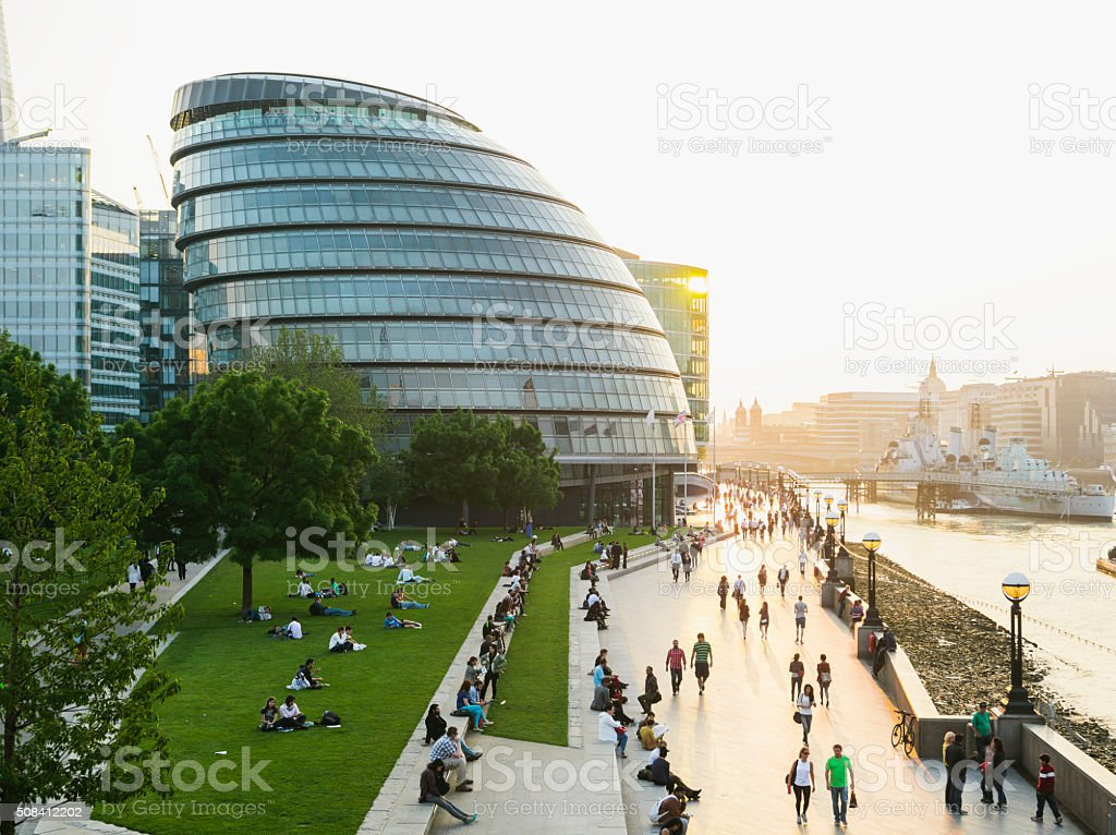London Riverbank stock photo