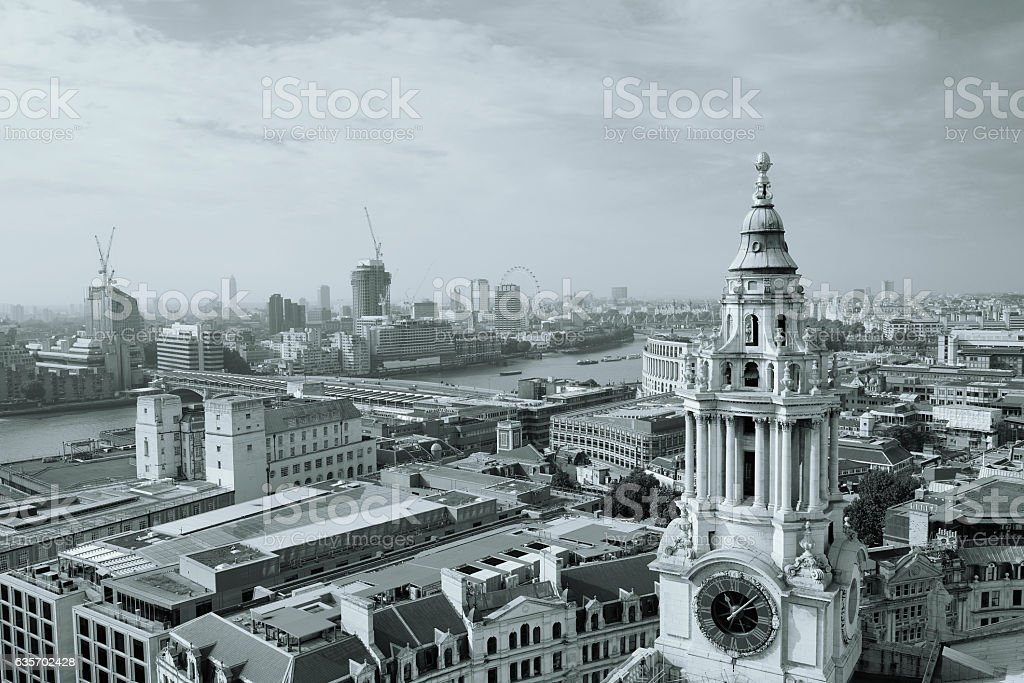 London rooftop view royalty-free stock photo