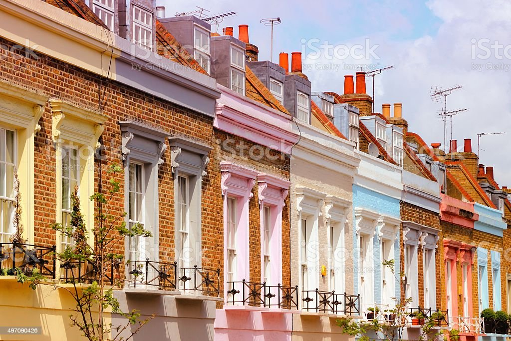 London rowhouse stock photo