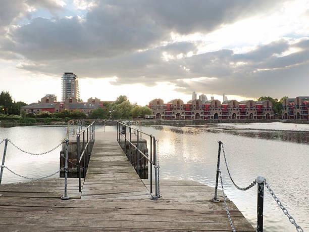 London Shadwell basin stock photo