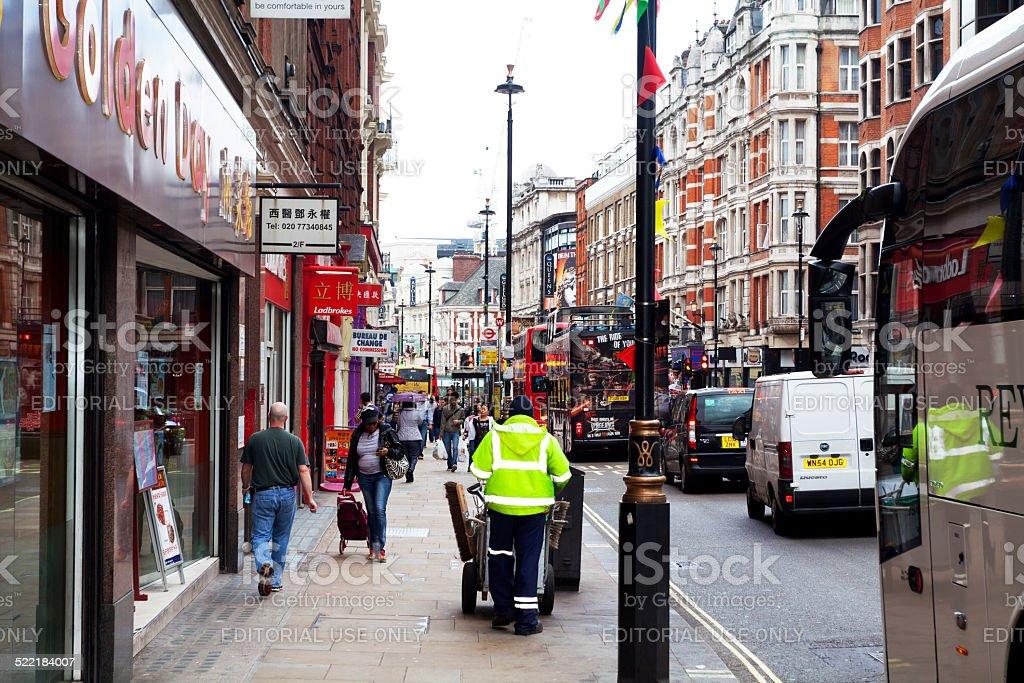 London Shaftsbury Avenue stock photo