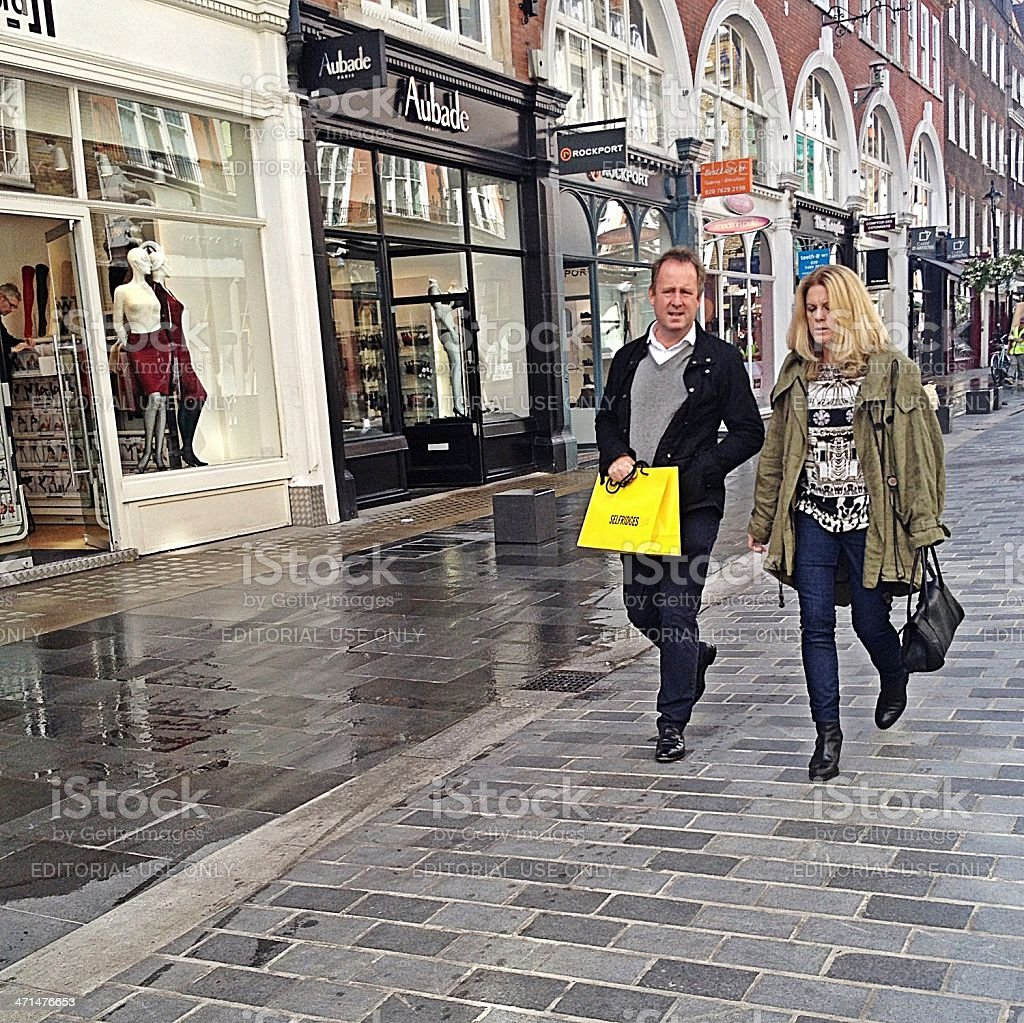 London shoppers, South Molton Street. royalty-free stock photo