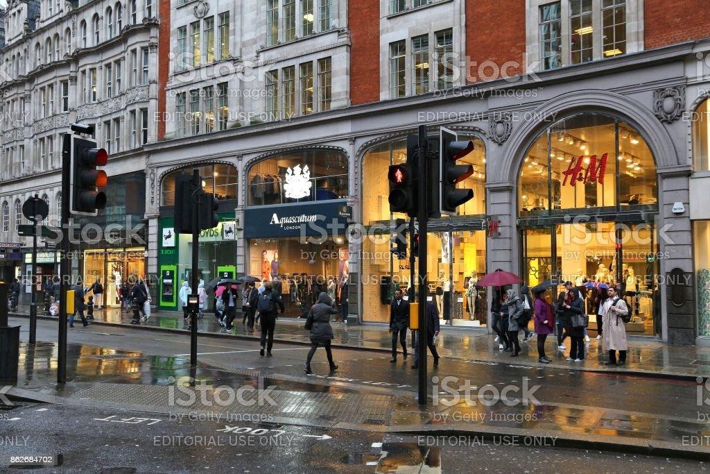 London shopping stock photo