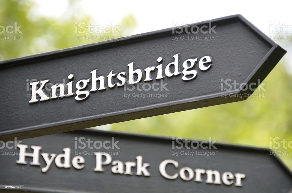 London Sign stock photo