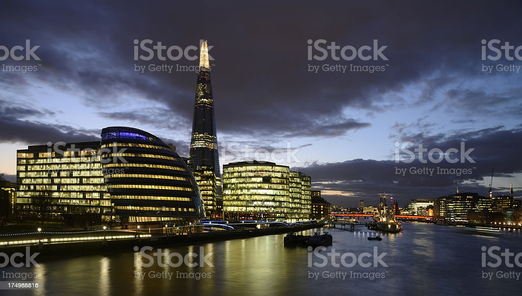 London skyline and the Shard building. royalty-free stock photo