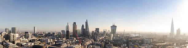 skyline von London am Morgen panorama – Foto