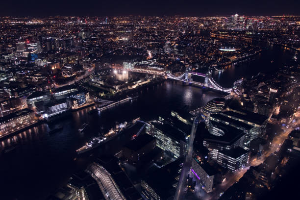 London Skyline Night stock photo