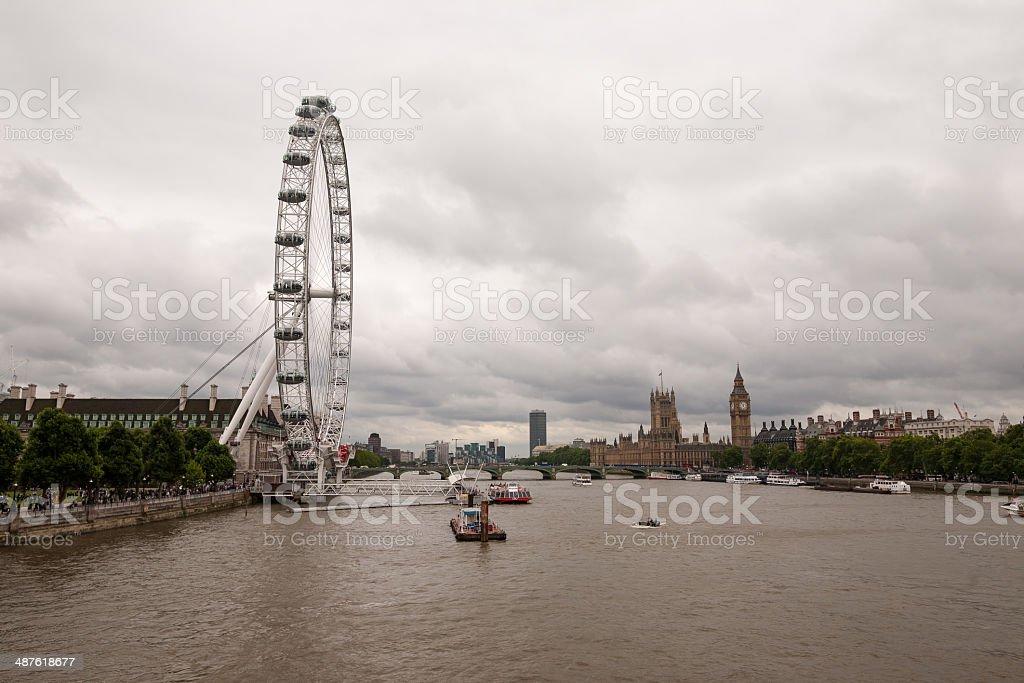 London skyline on a cloudy day stock photo