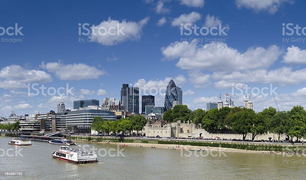 London skyline panorama, beautiful summer's day royalty-free stock photo