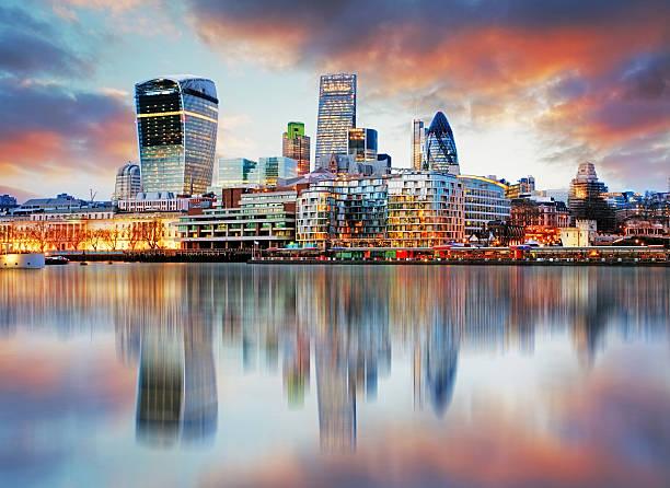 london skyline - finanskvarter bildbanksfoton och bilder