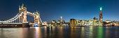 London Skyline Panorama taken at Twilight