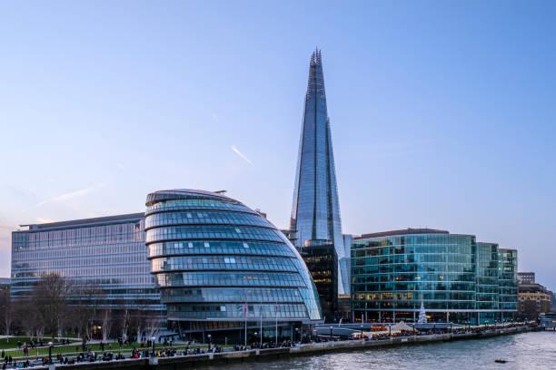 London skyline with the Shard (England, UK) stock photo