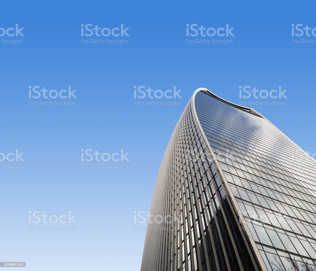London skyscrapers - walkie talkie building stock photo