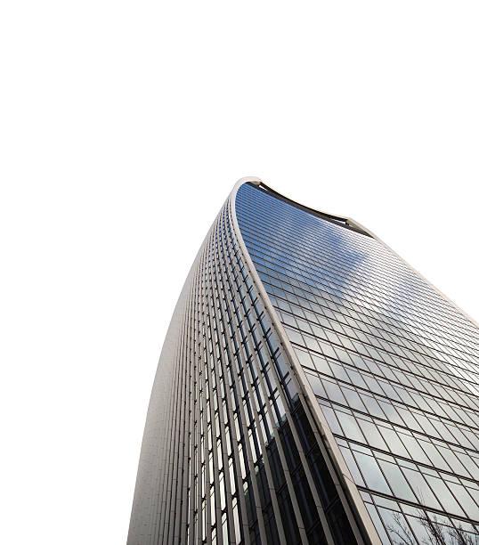 london wolkenkratzer-walkie-talkie gebäude - bogen bauen stock-fotos und bilder