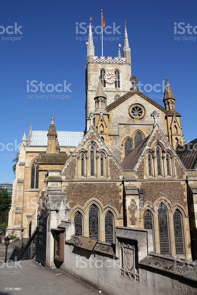 London - Southwark Cathedral stock photo