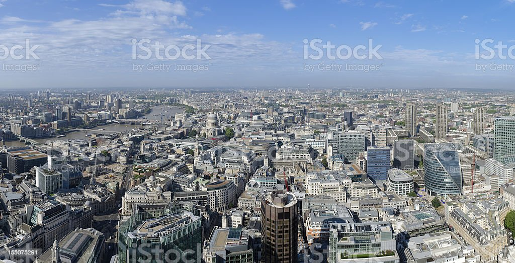 London, spectacular aerial view of the city stock photo