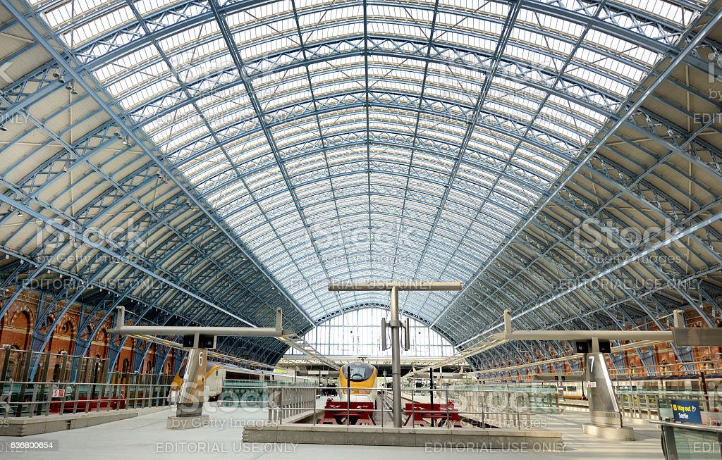 UK London St Pancras interior stock photo
