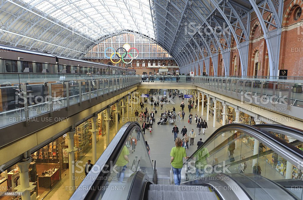London St Pancras International Eurostar Terminal Railway Station royalty-free stock photo