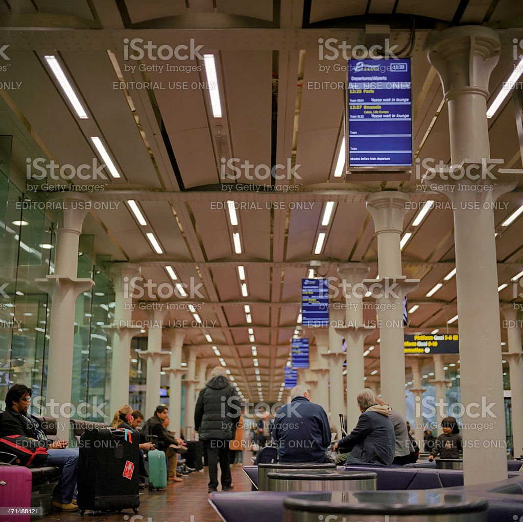London St Pancras International station for Eurostar royalty-free stock photo