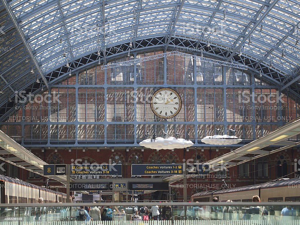 London St Pancras Station stock photo