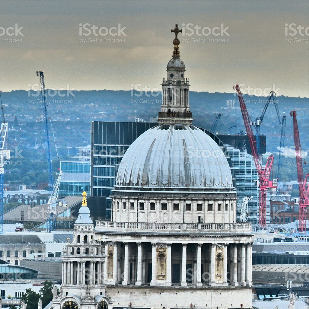 Londres - St Paul's Cathedral, monument religieux stock photo
