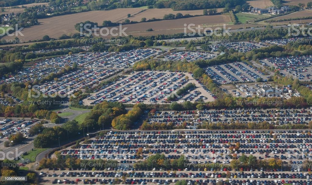 Long Stay Car Park Stansted >> London Stansted Airport Long Stay Car Park Stock Photo