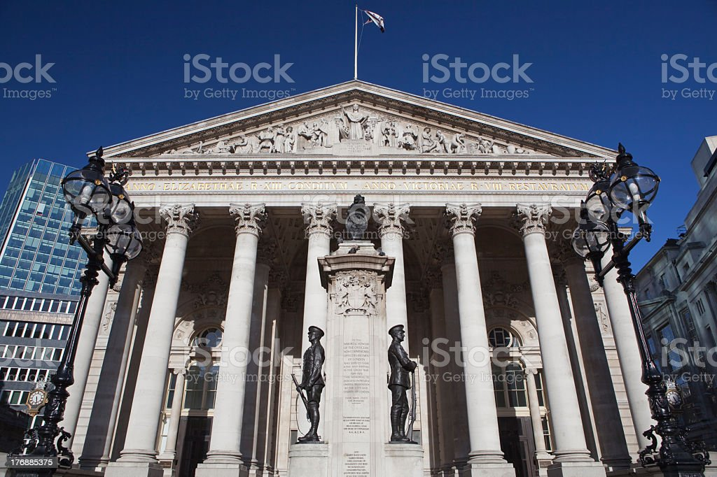 London Stock Exchange building royalty-free stock photo