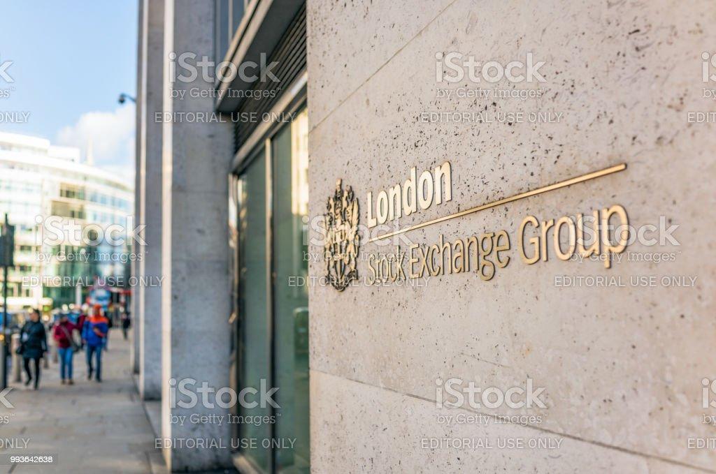 Londoner Börse außen – Foto
