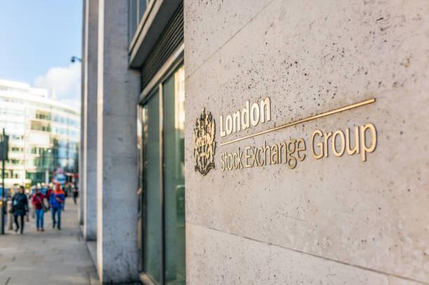 London Stock Exchange exterior stock photo