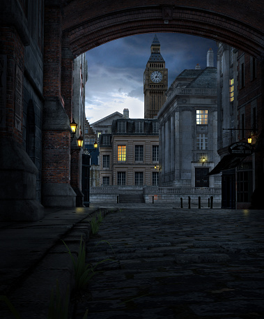 istock London Street at Night with 19th Century City Buildings 1075959494