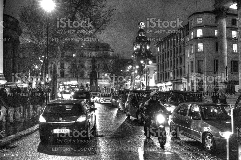 London street scene royalty-free stock photo