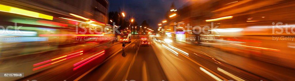 Les rues de Londres de nuit photo libre de droits